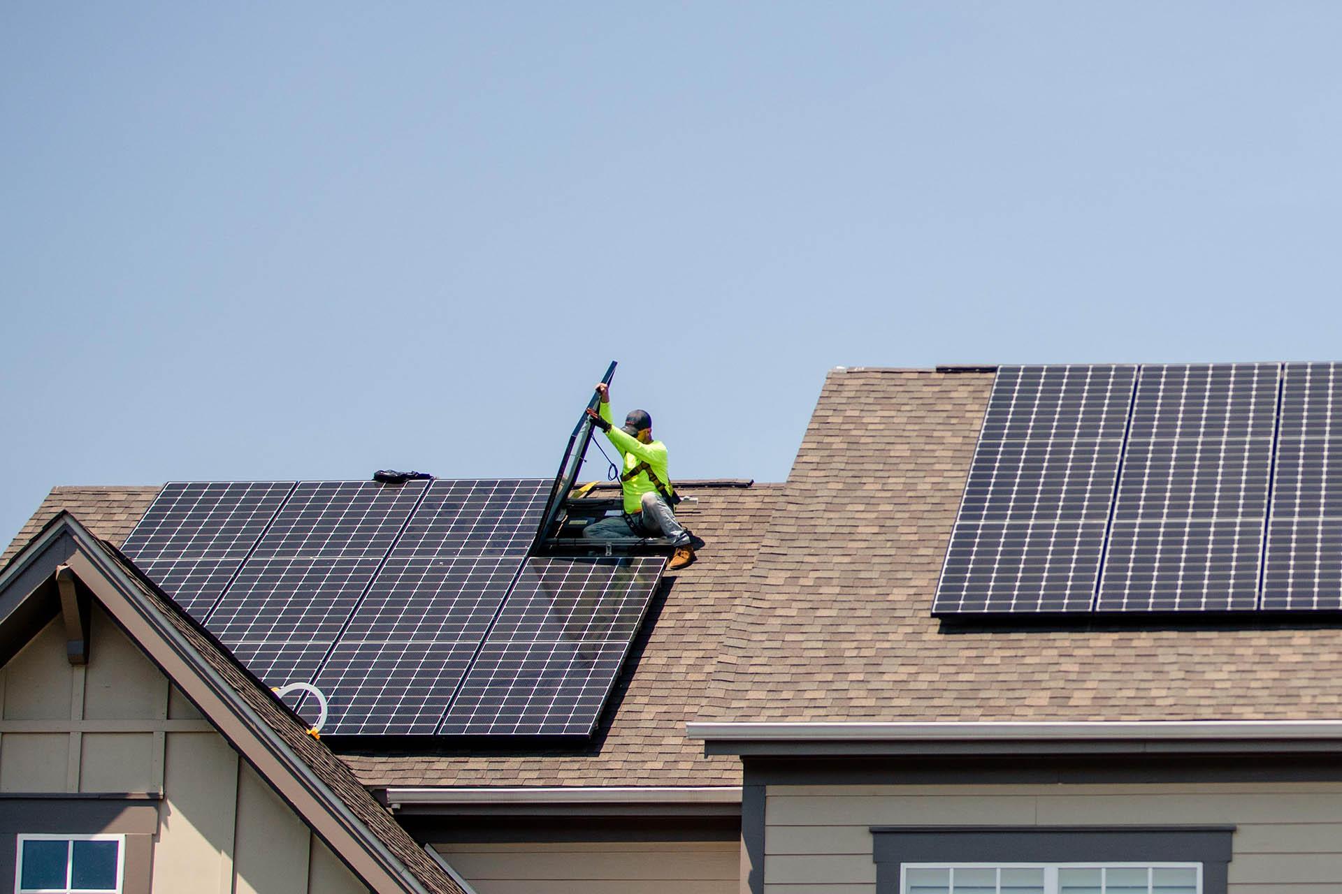image of solar panel installation by prospect solar