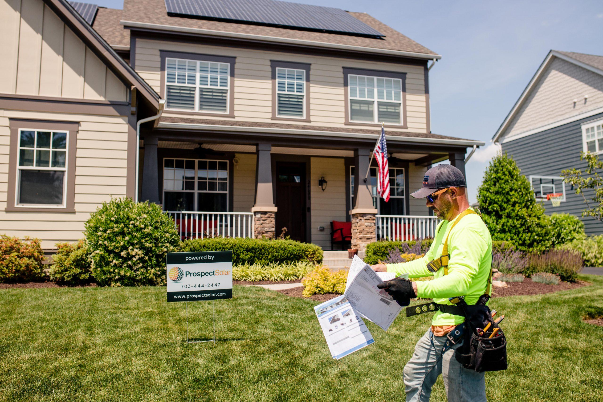 Prospect Solar Residential Panel Install